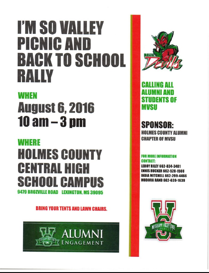 Holmes County Alumni Chapter Back to Valley Rally 7.21.16