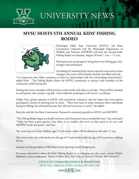 MVSU Fishing Rodeo